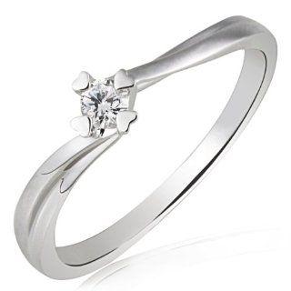 Goldmaid Damen Ring Herz Stotzen Verlobungsring 585 Weißgold 1