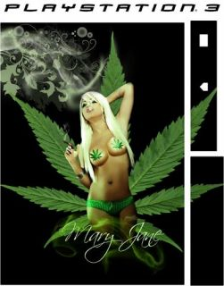 PlayStation 3 PS3 SEXY CANNABIS Vinyl Sticker Skin