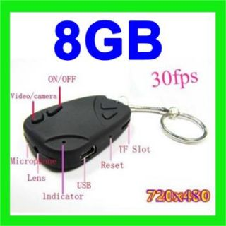 Mini Kamera DV DVR Car Auto Key Spion Spy Cam + 8GB Micro SD TF