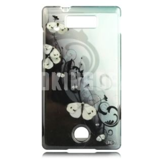 Blue Butterfly Talon Cell Phone Cover for Motorola WX435 Triumph
