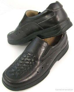 Herren Echt Leder Schuhe Lederschuhe Slipper Sommerschuhe Halbschuhe