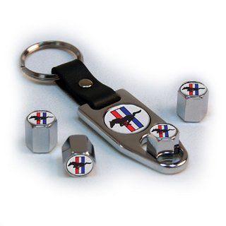 Geschenk Set Ford Mustang Schlüsselanhänger Ventilkappen