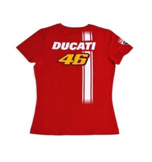 DUCATI Corse Damen T Shirt Top VALENTINO ROSSI D46 FAN Moto GP LADY
