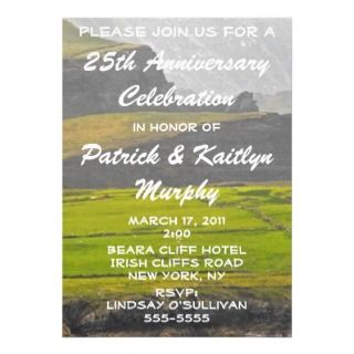 St. Patricks Day Anniversary Party Invitation