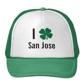 love (shamrock) San Jose St Patricks Day Trucker Hat