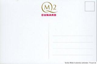Queen Mary 2 (QM2) Original Cunard Ansichtskarte (2) ungelaufen NEU