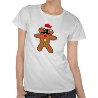 mustache gingerbread man postage