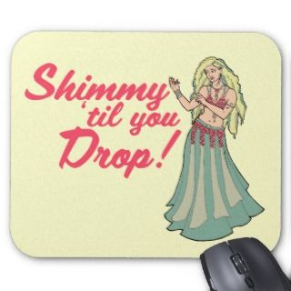 Blonde Belly Dancer Shimmies mousepads by LacyChenault