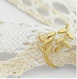 AG4506 New Fashion Jewelry Gold Double leaves Ring Size 6