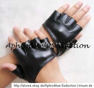 Fingerlos Handschuhe Sexy Bühne Weiß Schwarz Pink Lady gaga Club