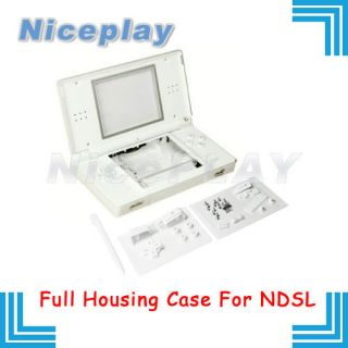 New Full Housing Case Nintendo DS LITE NDSL Shell WHITE