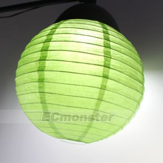 10 PCS 12 Green Chinese Paper Lantern Wedding Party Home Garden Decor