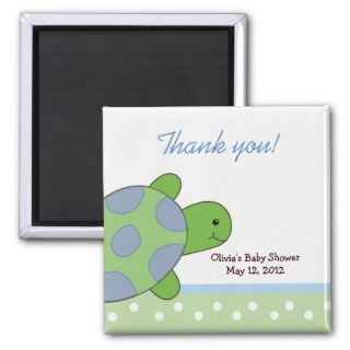 Happy Green Sea Turtle Customized Favor Magnet