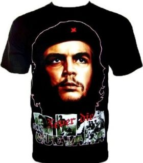 CHE GUEVARA T SHIRT NEVER DIE Schwarz Noir Black Gr S: