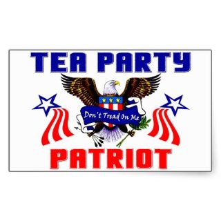 Tea Party Patriot Rectangular Stickers