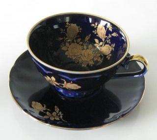 Bareuther Waldsassen Echt Kobalt ein Kaffeegedeck