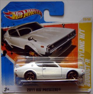 Hot Wheels NISSAN SKYLINE H/T 2000GT R 164 scale 2011   WHITE