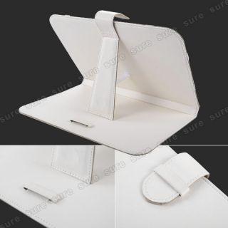 weiß Ledertasche case cover Hülle für Samsung Galaxy Tab 2 10.1