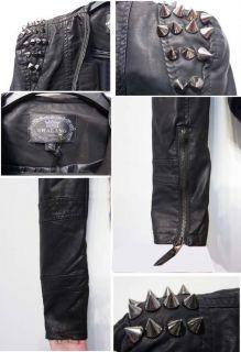 Neu Damen Vintage Punk Rock&Roll Leder Jacke Schulter Bluse Niet