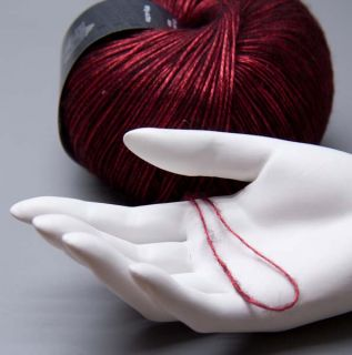 Lana Grossa Lace Lux 013 metallic red 50g Wolle