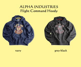 Alpha Industries Flight Command Hoody Pullover S M L XL 2XL 3XL navy