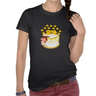 24 Year Old Birthday Cake Mouse T shirt