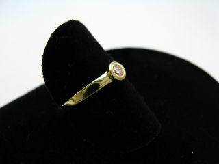 R478 585er 14kt Gelbgold Gold Ring Solitärring mit Brillant ca. 0
