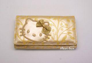 Letzte Luxus Kitty Geldbörse Portemonnaie Gold Glitzer