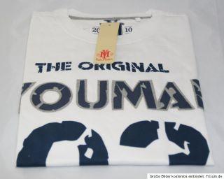 Youman* Langarm Shirt Print  Applikationen Weiss Blau *NEU*