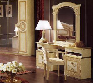 Damen Kommode 6 Schubladen Gold Italienische Stilmöbel Hochglanz