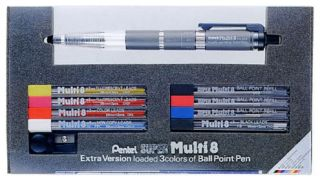 Pentel Super Multi 8 Colored Pencil Set Case&Sharpener Design editing