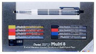 Pentel Super Multi 8 Colored Pencil Set Case&Sharpener Design editing