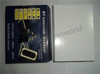 2XGegensprechanlage Bluetooth Intercom Headset für Motorrad/Ski/ATV