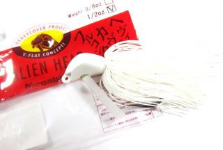 Megabass Alien Head Rubber Jig 1/2 oz Pearl White