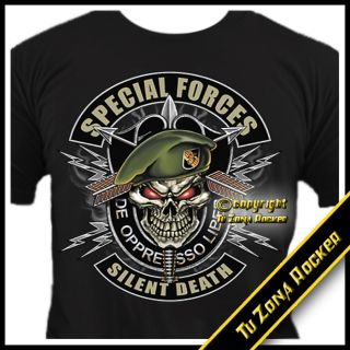 Camiseta t shirt Special Forces Military Custom Chopper Airsoft Legion