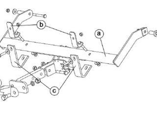 Anhängerkupplung Renault Kangoo 1998 2002 starr + 7pol uni E Satz