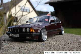 BMW 730i E32 Alpina Umbau Tuning 1:18 KL echt Alufelgen Youngtimer 730