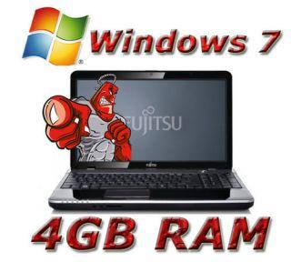 Windows 7 Fujitsu Lifebook AH530 Intel Pentium 2x 2 1 GHz 4GB RAM