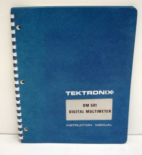 Tektronix DM 501 Digital Multimeter Instruction Manual