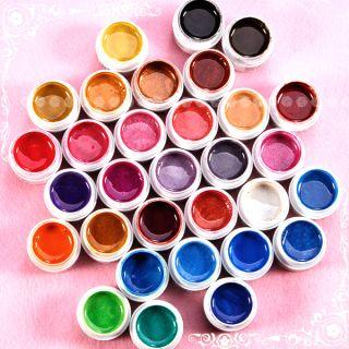 31Farbe UV GEL Gele Farbgel Modellage Nail Art set für Nagelstudio
