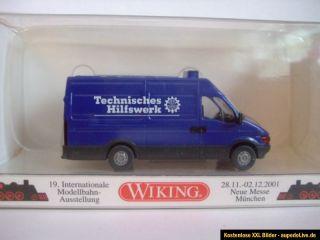 Wiking 28602 Iveco Daily THW Technisches Hilfswerk Messe München 2001