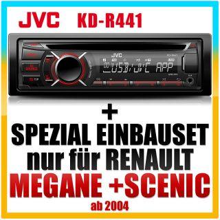 JVC USB Autoradio+Blende für RENAULT Megane/Scenic   2004 2007