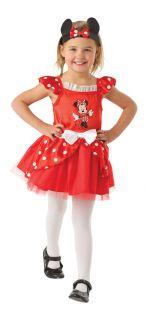 Mädchen Disney Minnie Mouse Ballerina Kostüm Offiziell Lizenziert
