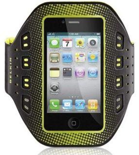 Belkin ProFit Deluxe Neopren Armband Apple iPhone 4 4S schwarz gelb