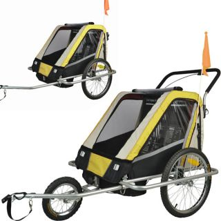 Vollgefederter Fahrradanhänger Jogger Kinderanhänger Kinder