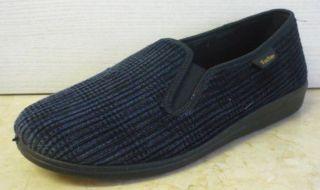 Herren Hausschuhe blau schwarz Fischer Gr. 41 NEU flexible Laufsohle