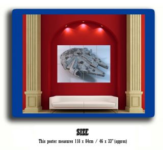 Millenium Falcon Star Wars Giant Poster Print J505