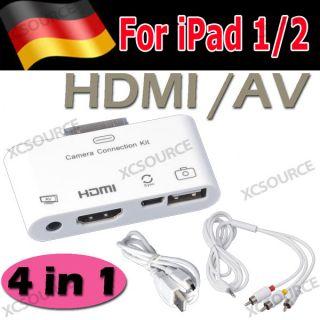HDMI USB Adapter Dock AV kable Kamera Connection Kit fuer Apple iPad 1