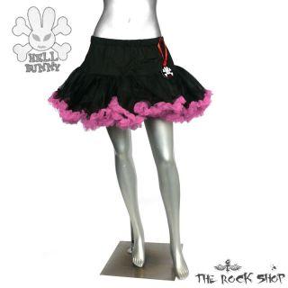 Hell Bunny kurzer Petticoat   Schwarz Pink