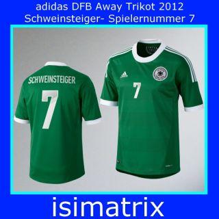 adidas DFB DEUTSCHLAND TRIKOT AWAY grün EM 2012 Erwachsene